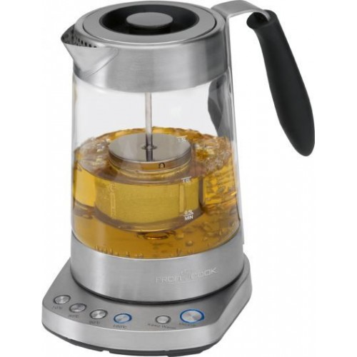 PROFICOOK Germany WKS 1020G Glass Tea Kettle with Filter ,Temperature Control
