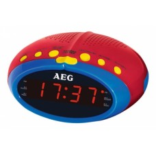 AEG MRC 4143 Kids Line Alarm Clock radio Red Yellow Blue