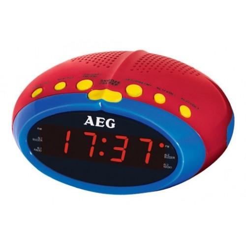 AEG MRC 4143 Kids Line Alarm Clock radio Red Yellow Blue