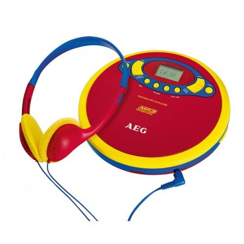 AEG CDP 4228 Kids Line CD Player- Red/Yellow/Blue