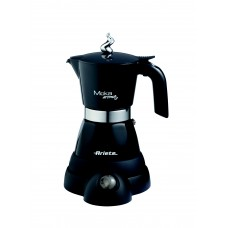 Ariete 1358 B Electric Moka Aroma  Fresh Coffee Machine Black