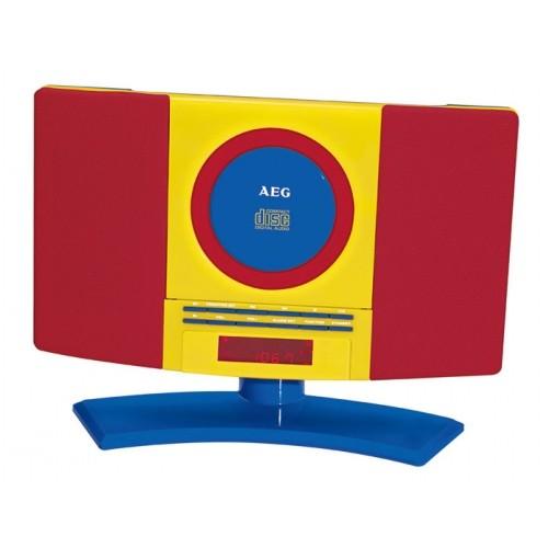 AEG MC 4464 CD/MP3 Kids Line Music Centre Red Yellow Blue