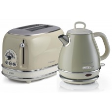 Ariete Vintage Compact 155 + 2868 2 Slice Toaster & ONE Litre Kettle Twin Pack BEIGE