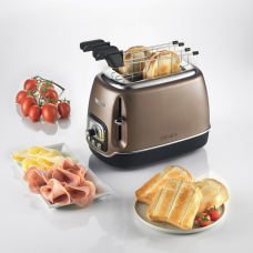 Ariete 158 BZ-PS Classica 2 Slice Toaster with Tongs Bronze