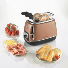 Ariete 158 CP-PS Classica 2 Slice Toaster with Tongs Copper