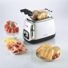 Ariete 158 PL-PS Classica 2 Slice Toaster with Tongs Pearl