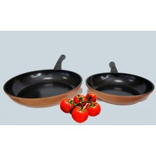 IN-Home Supertherm Cookware Copper Style 2 Piece Fry Pan Set Induction
