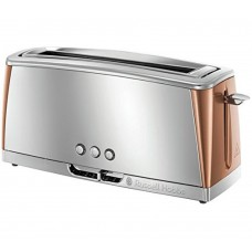 Russell Hobbs 24310 Luna Wide Long Slot 2 Slice Toaster Copper 1550W