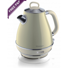 Ariete 2869 B Vintage Retro Cone Shaped Electric Kettle 1.7 Litres Beige
