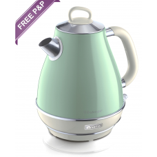 Ariete 2869 G Vintage Retro Cone Shaped Electric Kettle 1.7 Litres Green