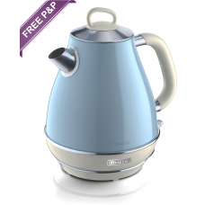 Ariete 2869 LB Vintage Retro Cone Shaped Electric Kettle 1.7 Litres Light Blue