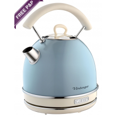 Ariete 2877 LB Vintage Retro Electric Kettle Light Blue 2000W 1.7 Litres