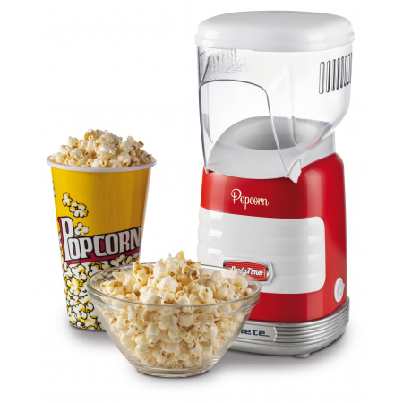Ariete 2956 Pop Corn Party Time Maker Popcorn Popper 1100 W RED