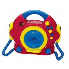 AEG CDK 4229 Kids Line Sing Along CD Player Red Yellow Blue