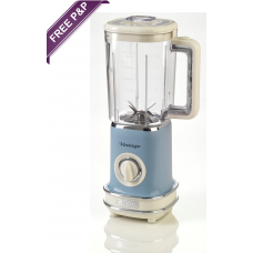 Ariete 568 LB Vintage Retro Blender Smoothies 500W Light Blue