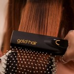 Ariete Gold Hair 8144 Wide Hair Straightener Professional styling for perfect smooth hair.