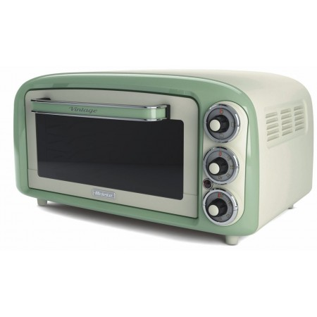 Ariete 979 G Vintage Retro Electric Oven 18 Litres Green Worktop