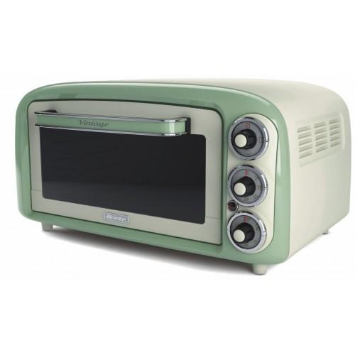Ariete 979 G Vintage Retro Electric Oven 18 Litres Green Worktop