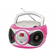 Trevi CD 512 Portable Stereo Radio With CD Player PINK