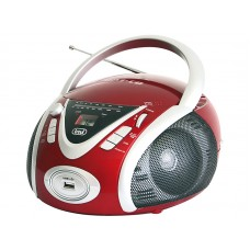 Trevi CMP 542 USB PORTABLE RADIO WITH CD MP3 USB PLAYER Boombox Red