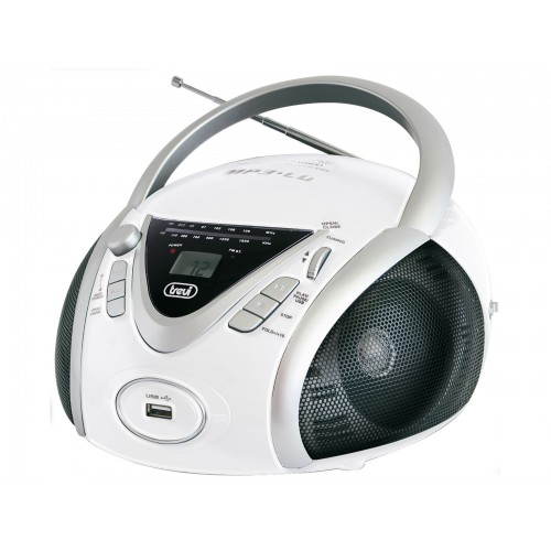 Trevi CMP 542 USB PORTABLE RADIO WITH CD MP3 USB PLAYER Boombox White
