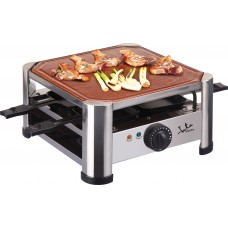 JATA GT402 Terracotta Raclette Grill Roasting Griddle