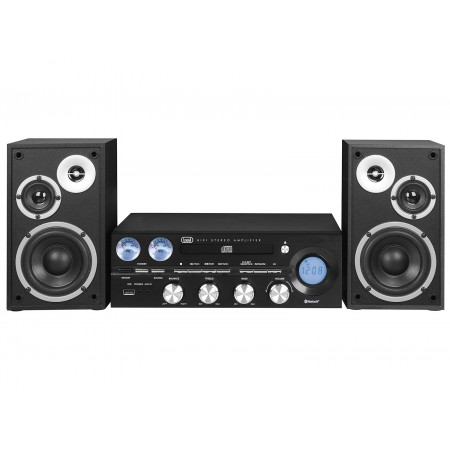 Trevi 1900 BT Hi-fi System Stereo Bluetooth CD MP3 FM Radio BLACK