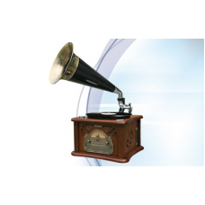 Roadstar Vintage Line Wooden Retro Home Hi-Fi System with Horn HIF-1800TUMPK
