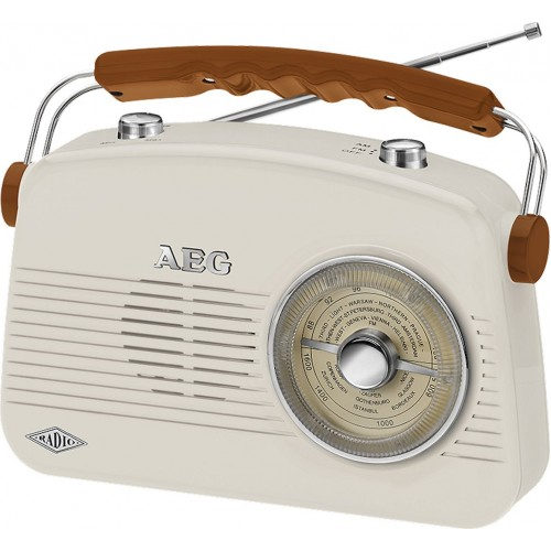 AEG NR 4155 Vintage Retro Radio Small Cream