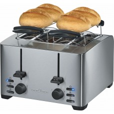 Proficook of Germany TA 1073 Electric 4 x Slice Toaster & Bun Warmer Stainless Steel 1500W