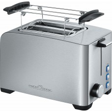 Proficook of Germany TA 1082 TWO SLICE Toaster & Bun Warmer Stainless Steel 800W