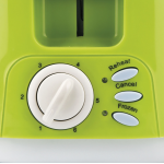 Girmi TP11 Two Slice Toasters 6 cooking Levels 800 W GREEN New Model For 2020
