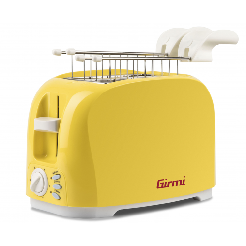 Girmi TP11 Two Slice Toasters 6 cooking Levels 800 W Yellow New Model For 2020
