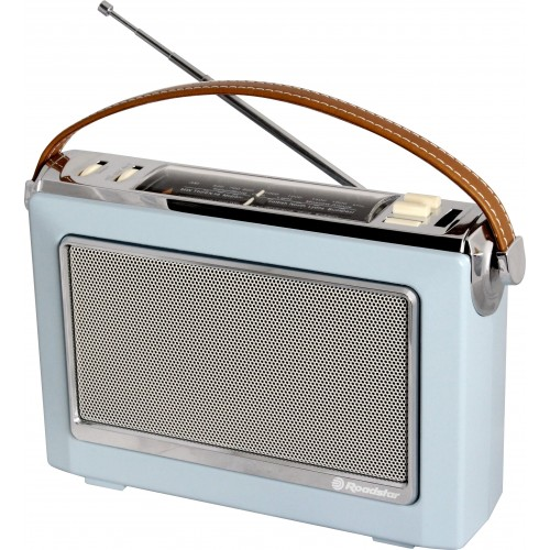 Roadstar TRA-1966/LB Vintage Retro Style Portable AM/FM Radio Light Blue