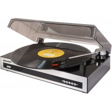 Roadstar TTL-6970EPC Vintage Line Turntable with RCA Line-Out and USB