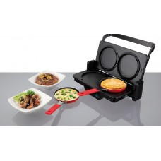 Jata SET266 Contact Grill with Fry Pan Accessory Set