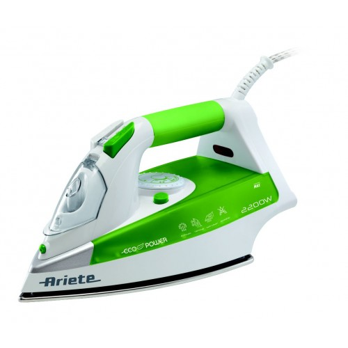 Ariete 6233 ECOPOWER Steam Iron Stainless Sole Plate