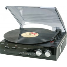 Roadstar TTR-8633N Vintage line Stand Alone Turntable and Radio