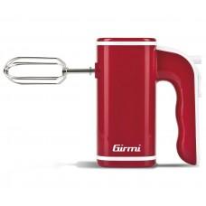 Girmi SB03 Electric Hand Mixer 5 speeds Dough Hooks & Beaters 150W RED