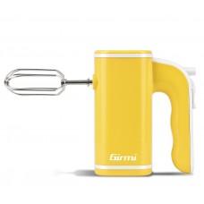 Girmi SB03 Electric Hand Mixer 5 speeds Dough Hooks & Beaters 150W YELLOW